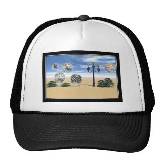 crystalwhite mesh hats