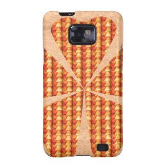 Crystel Beads Golden Flower Love Romance fun GIFT Samsung Galaxy S2 Covers