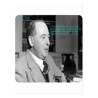 "CS Lewis & ""Other Worlds"" Quote Postcard"