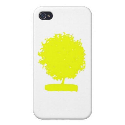 CsA004: Strange Yellow Tree Covers For iPhone 4