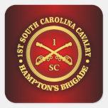 CSC -1st South Carolina Cavalry Square Sticker
