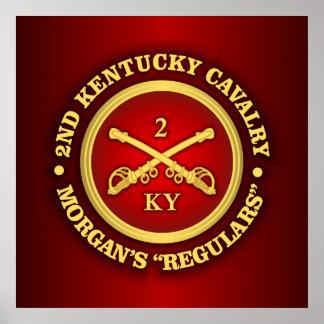 CSC -2nd Kentucky Cavalry (brass-red) Poster