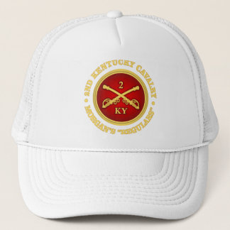 CSC -2nd Kentucky Cavalry (brass-red) Trucker Hat