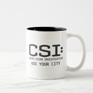 CSI / Add Your City Two-Tone Coffee Mug