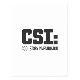 CSI: Cool Story Investigator Postcard