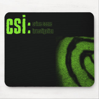 csi crime scene investigation mouse mat
