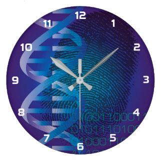 CSI DNA Fingerprint Large Clock