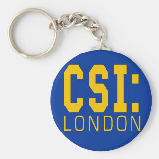 CSI London Products Basic Round Button Key Ring