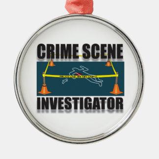 CSI Silver-Colored ROUND DECORATION