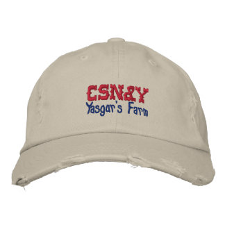 CSN&Y Yasgur's Farm Embroidered Baseball Caps