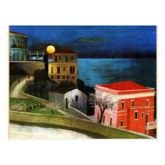 Csontvary - Full Moon in Taormina (detail) Postcard