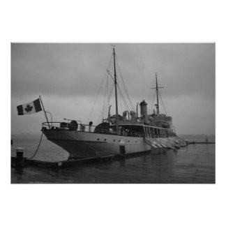CSS Acadia in Halifax Nova Scotia by Shawna Mac Poster