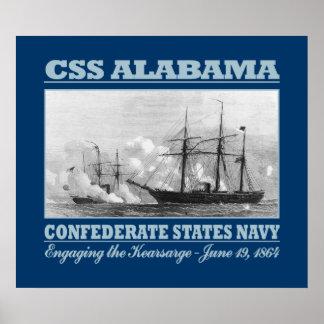 CSS Alabama -Kearsarge (B) Print