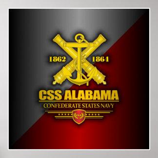 CSS Alabama (Navy Emblem) Poster