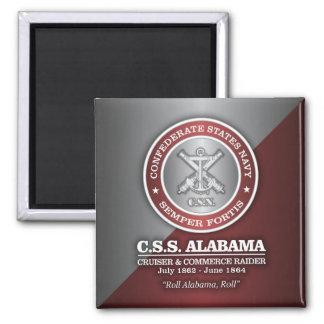 CSS Alabama (SF) Square Magnet