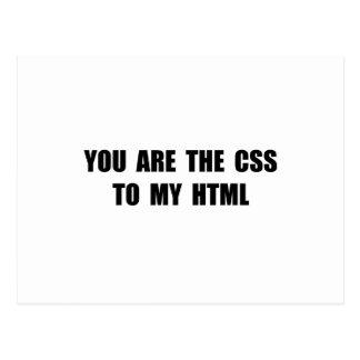 CSS HTML POSTCARD