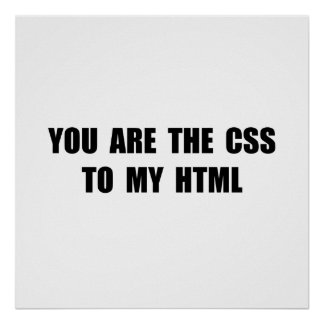 CSS HTML POSTER