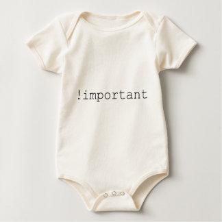 CSS Important Declaration Baby Bodysuit