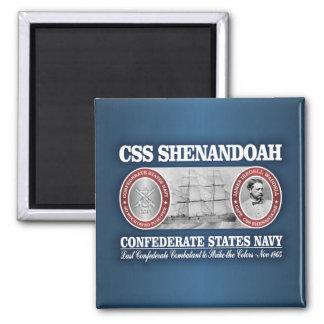 CSS Shenandoah (CSN) Square Magnet
