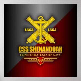 CSS Shenandoah (Navy Emblem) gold Poster