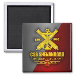 CSS Shenandoah (Navy Emblem) gold Square Magnet