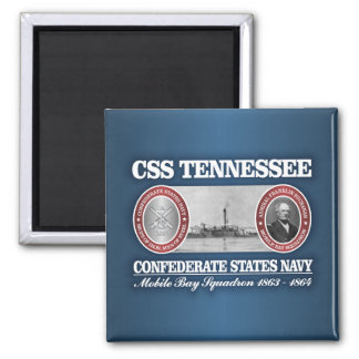 CSS Tennessee (CSN) Square Magnet