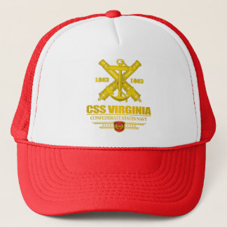 CSS Virginia (Navy Emblem) gold Trucker Hat