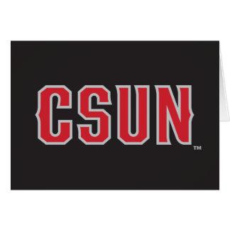 CSUN Logo on Black Note Card