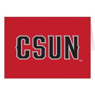 CSUN Logo on Red Note Card