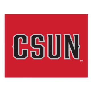 CSUN Logo on Red Postcard
