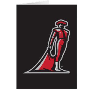 CSUN Matador - Black Greeting Card