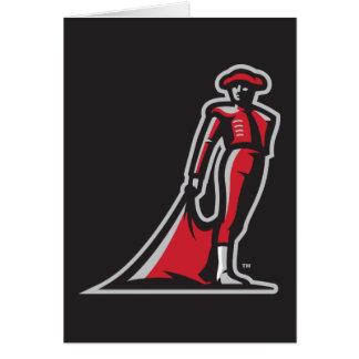 CSUN Matador - Black Note Card