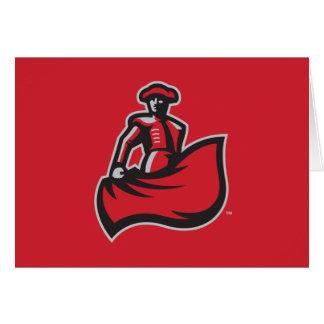 CSUN Matador with Cape - Red Greeting Card