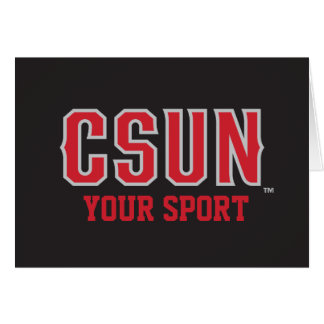 CSUN Red - Customize Your Sport Note Card