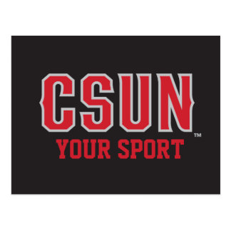 CSUN Red - Customize Your Sport Postcard