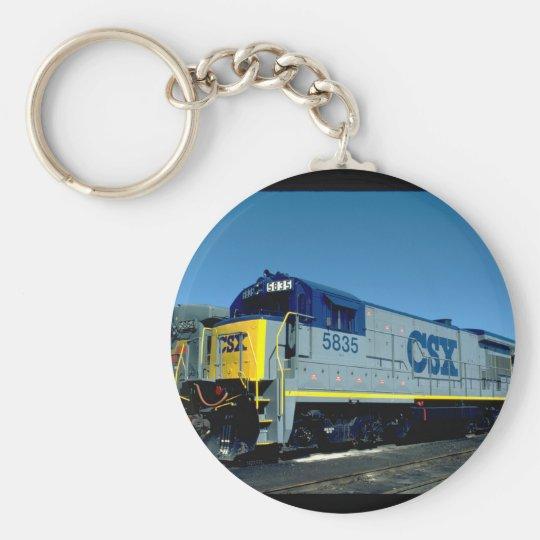 CSX GE B36-7 #5835, 1990_Trains Basic Round Button Key Ring