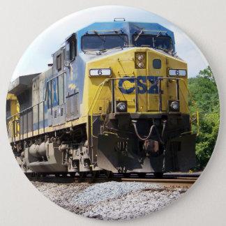 CSX Railroad AC4400CW #6 With a Coal Train 6 Cm Round Badge