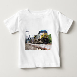 CSX Railroad AC4400CW #6 With a Coal Train Baby T-Shirt