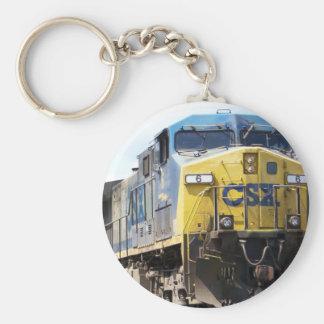 CSX Railroad AC4400CW #6 With a Coal Train Basic Round Button Key Ring