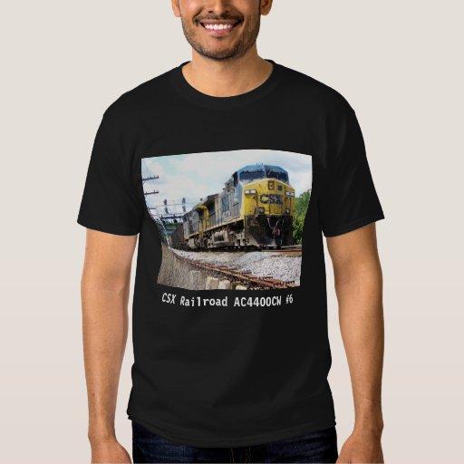 CSX Railroad AC4400CW #6 With a Coal Train Black T-shirt