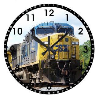 CSX Railroad AC4400CW #6 With a Coal Train Large Clock
