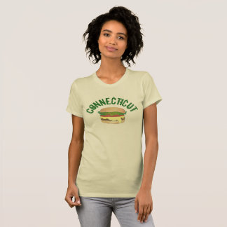 CT Connecticut Steamed Cheese Burger Cheeseburger T-Shirt