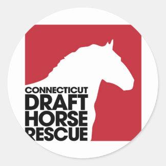 CT Draft Horse Rescue Round Sticker