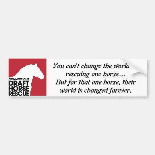 CT Draught   Horse Rescue Bumper Sticker
