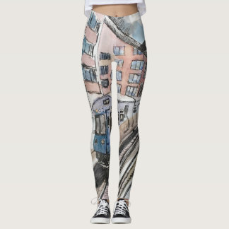 CTA Chicago Transit Authority Leggings