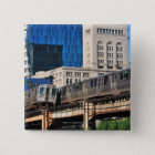 CTA rapid transit Orange Line and Green Line 15 Cm Square Badge