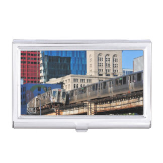 CTA rapid transit Orange Line and Green Line Business Card Holder