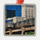 CTA rapid transit Orange Line and Green Line Christmas Ornament