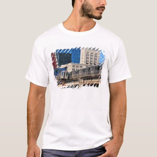 CTA rapid transit Orange Line and Green Line T-Shirt