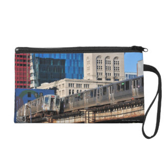CTA rapid transit Orange Line and Green Line Wristlet Clutch